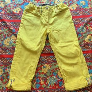 Yellow mini Boden cropped jeans size 8